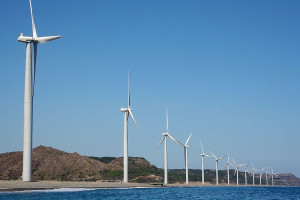 """ Bangui Wind Farm ""is located at the municipality of Bangui, Ilocos Norte"