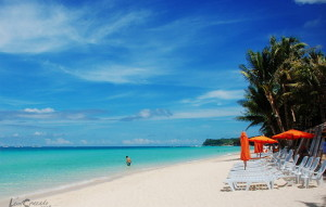 Boracay Island is in the Philippine province of Aklan, 200 miles south of Manila